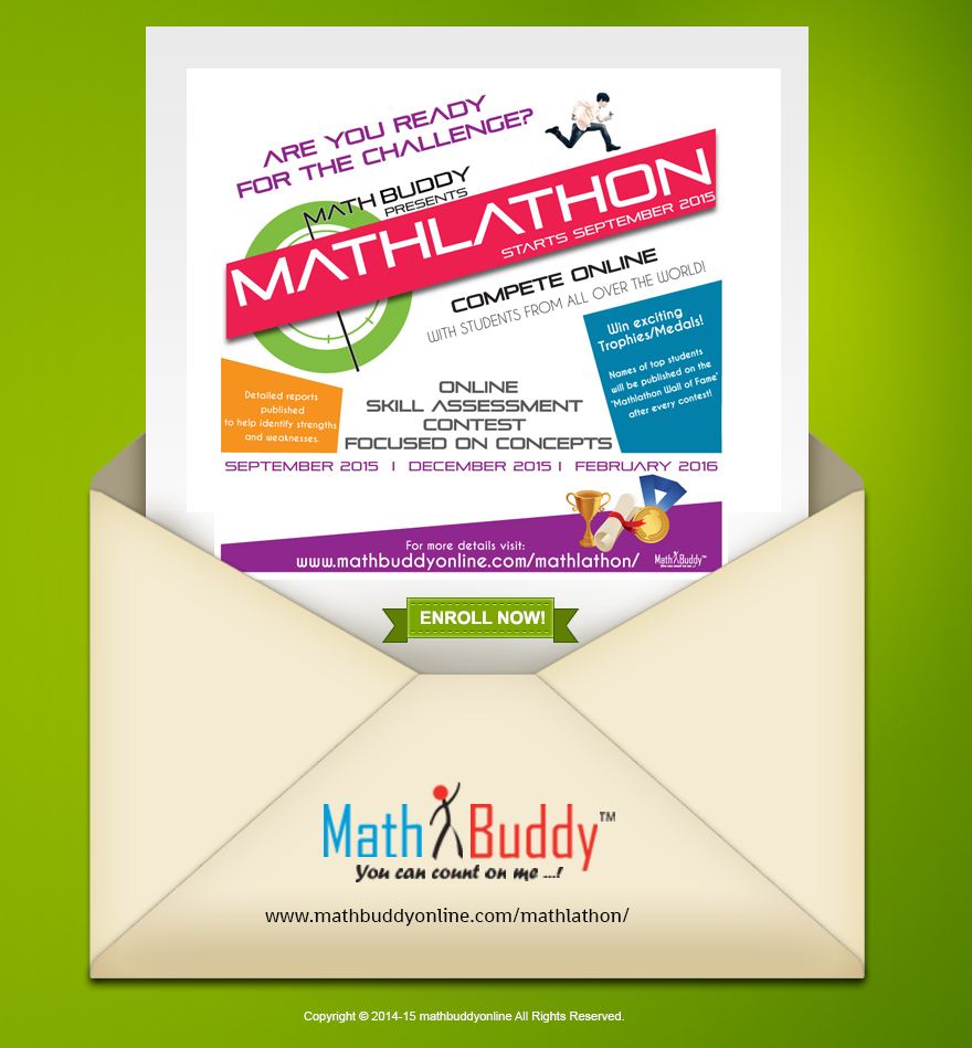 Are you ready for the challenge? Mathlathon 2015 starts September 1, 2015